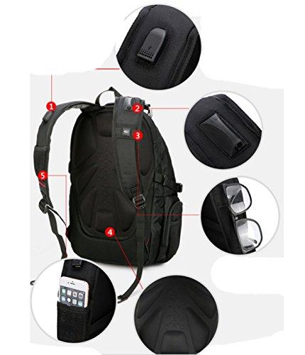 LAIDAYE Multi-sport Nylon Impermeabile Esterno Borsa Da Viaggio Affari Il Tempo Libero Multi-purpose Zaino Da Viaggio Black