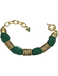 Guess Damen Armband Glamazon Stoff Edelstahl vergoldet 21 cm UBB81328