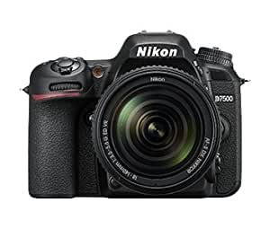 Nikon D7500 Camera AF-S VR Nikkor 18-105mm VR Lens Kit (Black) 16 GB Class 10 SD Card and Carry Case