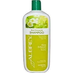 Aubrey Organics, Shampooing Hydratant, Camomille bleue, Normal, 16 fl oz (473 ml)