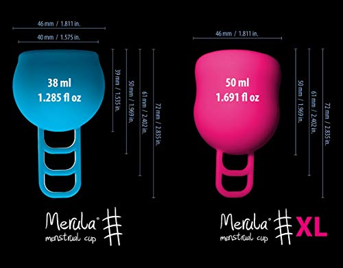 Merula Cup strawberry (pink) – One size Menstruationstasse aus medizinischem Silikon - 5