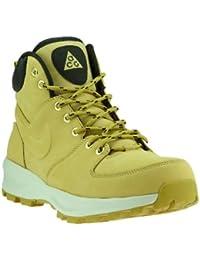 e847f001d246a8 Nike Manoa Leather Schuhe Herren Echtleder-Boots Stiefel Beige mit Zuglasche