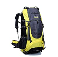 Skysper- Water-resistant Leisure Backpack Bag for Camping Hiking Mountaineering 65L Yellow