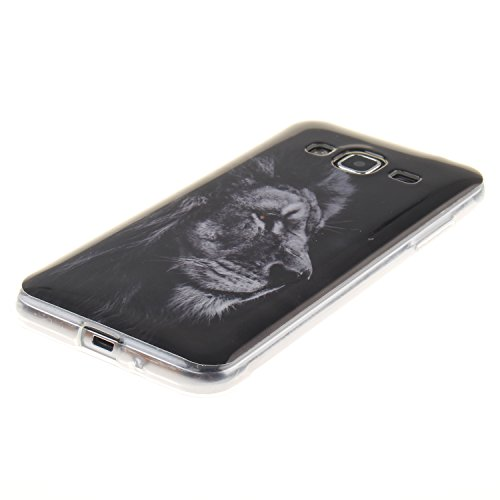 Qiaogle Téléphone Coque - Soft TPU Silicone Housse Coque Etui Case Cover pour Apple iPhone 6 Plus / iPhone 6S Plus (5.5 Pouce) - TX34 / Cute Panda TX37 / Noir Lion