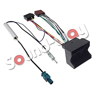 Cable Adapter ISO Autoradio Peugeot 207/307/407/1007 + Adapter Fakra