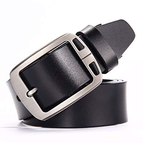 ATUSIDUN Cinturón Hombre Cuero Longitud 110 cm Ancho 4.5cm Cinturon de Cuero  Marrón y Negro 9e801cdcea5e
