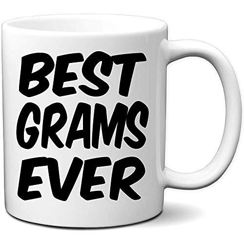 Beste Gramm überhaupt Kaffeetasse Großes Becher-Geschenk für Gramm und Großmutter für Mutter-Tagesneuheit 11 Unze-Weiß-Becher