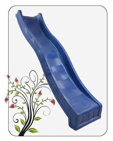 Childrens Garden Plastic Slide 10ft(3m) for Kids Climbing Frame (blue)
