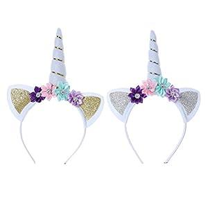 Yeahibaby 2 unicornios perlas florales