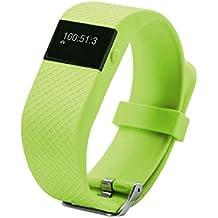 QHGstore JW86 Smart Wristband Actualizado a partir de TW64 Smartband pulsera inteligente Monitor de ritmo cardíaco Bluetooth Fitness Tracker verde