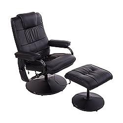 Homcom 921-006BK massage chair, imitation leather, black, 77 x 73 x 95 cm