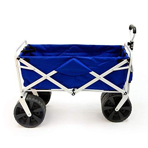 Unbekannt MAC Sport Heavy Duty zusammenklappbar All Terrain Utility Strand Wagon Warenkorb, blau/weiß (Wagon Utility Sport)