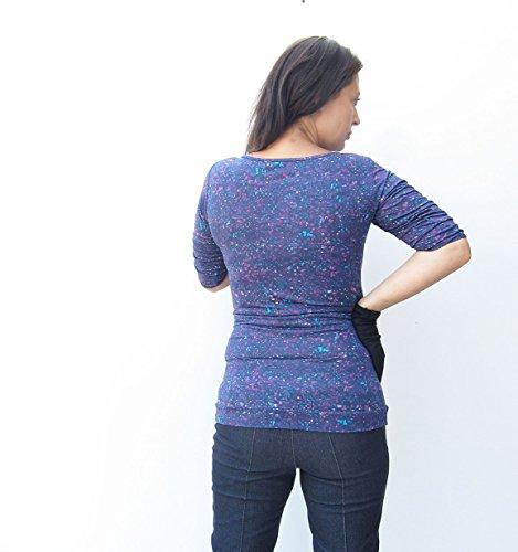 Schwangerschafts TShirt Aquarel Kunstdruck Mia Schwangerschafts, Baumwolle Tshirt violett X-Large