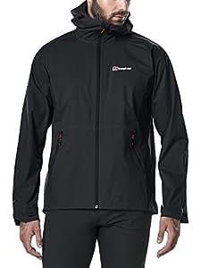 Berghaus Men's Stormcloud Waterproof Jacket, Black/Black, X-Small