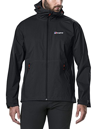 Berghaus Men's Stormcloud Waterproof Jacket, Black/Black, X-Small