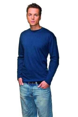 Stedman Apparel Herren T-Shirt Classic-t Long Sleeve/st2500 Grey Heather