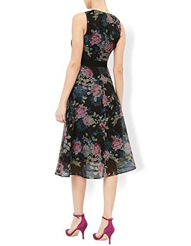 Monsoon Robe de bal motif floral Florence - Femme Noir