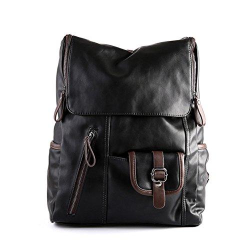 Honeymall Naturel sac à dos en cuir style vintage pour école loisirs