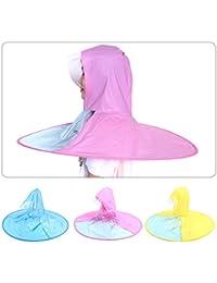 e95c2069a22 BUDB 1Pc Portable Folding Rain Coat Umbrella Hat (3 Sizes Blue