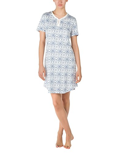 CALIDA Big Shirt Astoria, Chemise de Nuit Femme Bleu - Blau (faded denim 512)