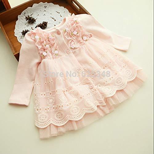 Yichener Baby-Kleidung, Frühling und Herbst, 0-2 Jahre, Blumenmuster, hübsche Prinzessin für Neugeborene (Babys Frühling Kleidung)