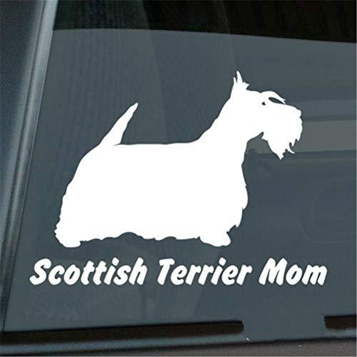 Wandaufkleber Kinderzimmer wandaufkleber 3d Auto Aufkleber Auto Aufkleber Scottish Terrier Mom Aufkleber Die Cut Scottie Window Decal Größe (Zoll): 6.00 X 4.33 -