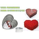 Molde con forma de corazón profesional Decora de aluminio anodizado CDC Kit 1(1molde de 15x 7.5cm)