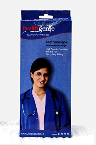 Healthgenie HG-403G Cardiology SS Double Diaphragm Stethoscope (Gray)