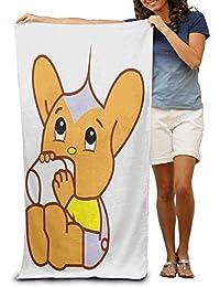 ewtretr Great Cartoon Cat Applique Pool Towel,Swim Towels For Bathroom,Gym,and