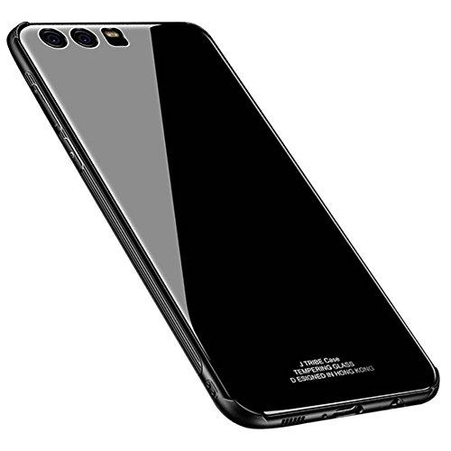 Kepuch Quartz Huawei P10 Plus Cover - TPU + Vetro Temperato Indietro Custodia per Huawei P10 Plus - Nero
