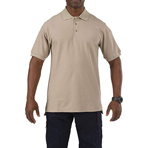 5.11 Tactical Series Utility Polo Short Sleeve Homme, Silver Tan, FR (Taille Fabricant : XL)