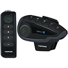 VNETPHONE® V8 Bluetooth Motorcycle Intercom Motorcycle Communication System with Remote Controller FM NFC 5 Riders
