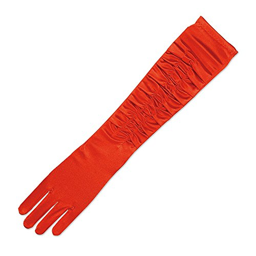 Bristol Novelty BA848 Handschuhe aus Seide, Rot, Damen Einheitsgröße