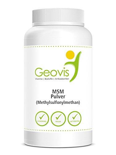 MSM Schwefel Pulver | ZERTIFIZIERT & LABORGEPRÜFT | hochdosiertes 99,9% reines Methylsulfonylmethan | in Premium Qualität | Gelenke - Haarwachstum | Nahrungsergänzung Geovis Geo1 (1000.00)