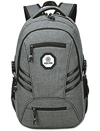 TTD Mochila portátil de negocios con puerto de carga USB, bolso de escuela de la