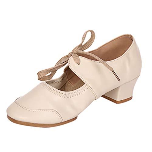 JiaMeng Damenschuhe mit einfarbigen Schuhen Latin Dance Schuhe -