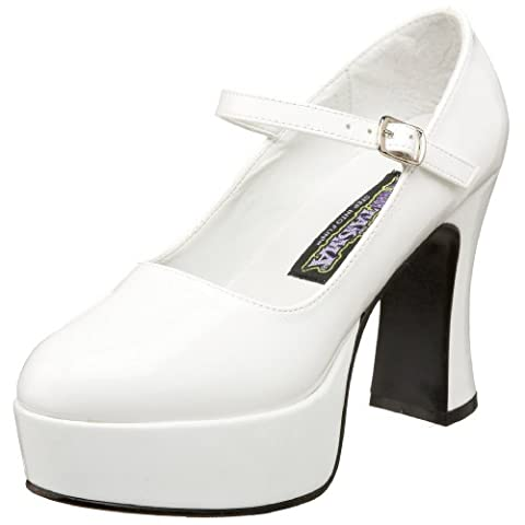 Pleaser Mar50/b - Mary Jane Femme - Blanc (White) - 40 EU