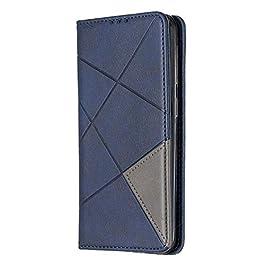 Docrax Galaxy A20e / A10e Leather Cover, Custodia Portafoglio in Pelle Porta Carte Funzione di Stand Antiurto Wallet…