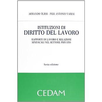 Istituzioni Di Diritto Del Lavoro. Rapporti Di Lavoro E Relazioni Sindacali Nel Settore Privato