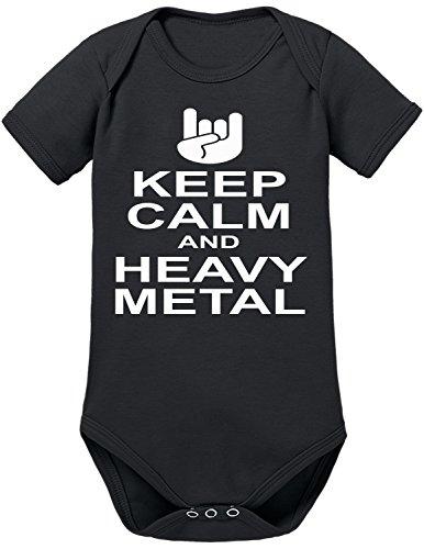 Touchlines Keep Calm Heavy Metal Body per bimbi Black, 68