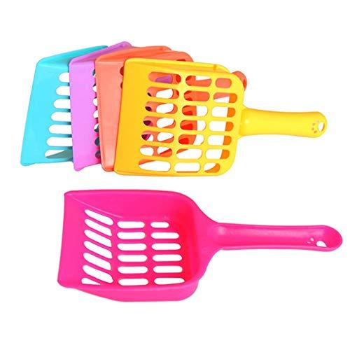 Flushzing 10PCS gelegentliche Farbe Hausgarten Kitten Streuschaufel Pet Litter Reinigungswerkzeug Haustier Sand Schaufel Reiniger