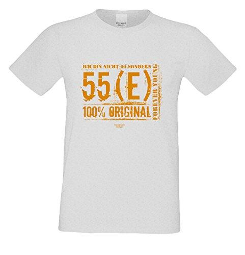 Niveuvolles Designer Sprüche-Shirt als Top Geschenke-Idee für alle Menschen mit Stil Motiv: Ich bin nicht 60 Farbe: grau Grau
