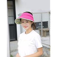 PLKOI La Sra. sombreros verano sombrilla protector solar el Sol sombreros enfriador plegable Cap ,rojo
