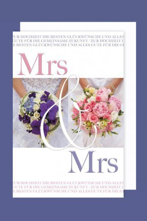 Hochzeitskarte gleichgeschlechtlich Mrs&Mrs lesbisch inkl.Kuvert