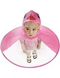 Alfa Mart- Hands Free Foldable Waterproof Wearable Raincoat UFO Children Umbrella Hat Umbrella for Heavy Rain Umbrella Cap for Kids Boys and Girls Multi Color