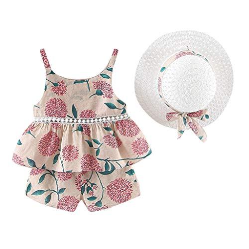 Weant Baby Kleidung Mädchen Outfits Obst Blumendruck Rüschen Tops + Shorts Röcke Prinzessin Partykleid Sommerkleid Prinzessin Kleid Kinder Kleider Baby Bekleidungssets Neugeborenen Bekleidungset