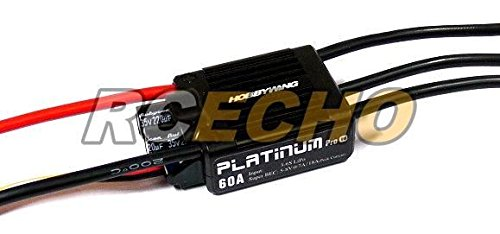 Motor Esc Hobbywing Und (RCECHO® HOBBYWING Platinum 60A V4 RC Model Brushless Motor ESC Speed Controller SL094 with RCECHO® Full Version Apps Edition)