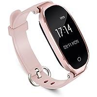 Montre Connectée Femme d'AGPTEK Tracker d'Activité avec Cardiofréquencemètre Podomètre Calories Sommeil - Smartband Bluetooth 4.0 Bracelet Intelligent Etanche IPX7 - Pour IOS 8.0 Android 4.3