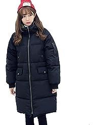 YRF Manteau d'hiver. Manteau de Knee hyper long. Femelle poil long. Coton épais