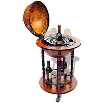 Anself Globe Bar Wine Container Bottle Glasses Holder